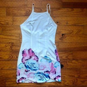 Semi-sheer Floral Dress